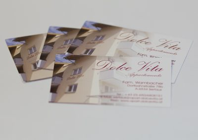 Visitenkarten Dolce Vita Serfaus
