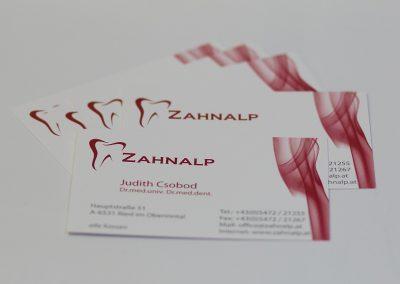 Visitenkarten Zahnalp